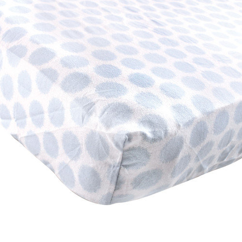 "Luvable Friends Fitted Crib Sheet, Flannel, 28"" x 52"" Blue"