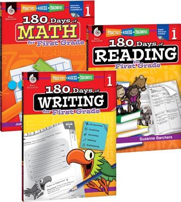 180 Days of Reading, Writing, and Math for First Grade 3-Book Set