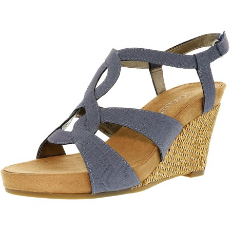 (Aerosoles Women's Fabuplush Blue Suede Sandal - 9M)