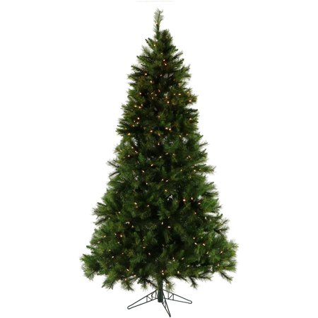 Fraser Hill Farm 12-Ft. Canyon Pine Artificial Christmas Tree with Clear LED Lighting ()
