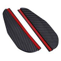 AkoaDa 2 X Carbon Fiber Look Car Side Rear View Mirror Rain Visor Snow Guard Shield