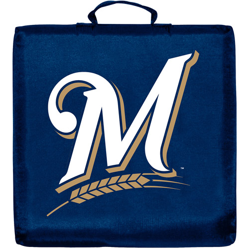 MILWAUKEE BREWERS OFFICIAL LOGO STADIUM SEAT CUSHION