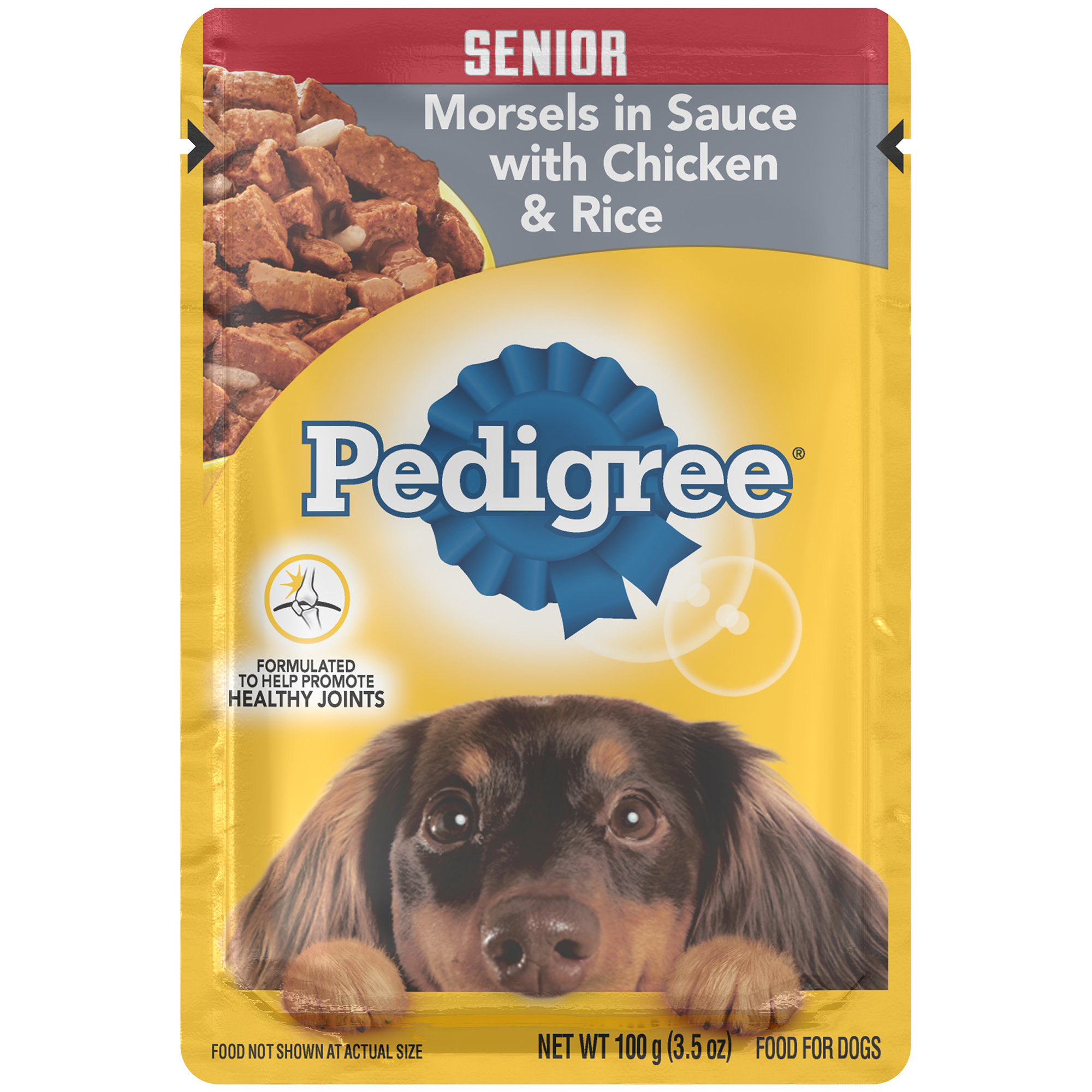 PEDIGREE Choice Cuts Senior Morsels in Sauce With Chicken and Rice Wet Dog Food 3.5 oz.