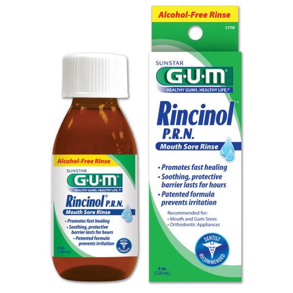 GUM Rincinol P.R.N. Mouth Sore Rinse 4 oz