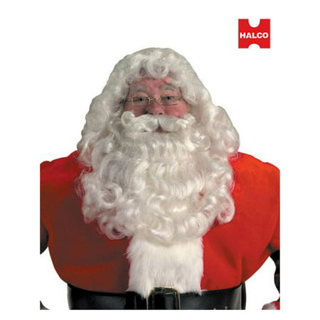 Professional Santa Wig And Beard Set - Professional Costume Rental