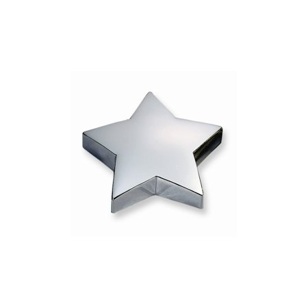 Silver-plated Star Paperweight