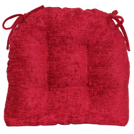 Red Cushions (Mainstays Mabel Chenille Red Chair Cushion, Single)