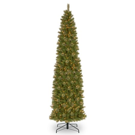 12 ft. Tacoma Pine Pencil Slim Tree with Clear Lights ...
