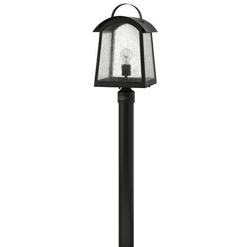 One Light Black Post Light