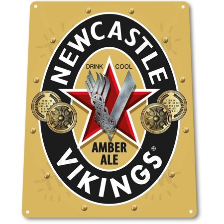 "TIN SIGN ""Newcastle Vikings"" Metal Decor Wall Art Beer Bar Pub Shop Cave A789, By Tin World"