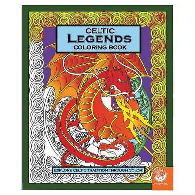 IN-13740980 MindWare Celtic Legends Adult Coloring Book 2PK