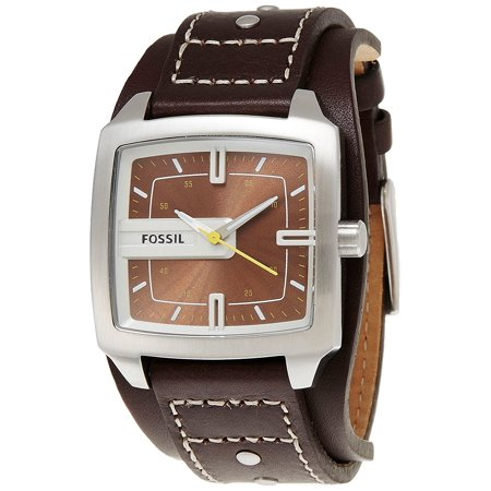 Fossil Men's JR9990 Brown Dial Brown Leather Watch