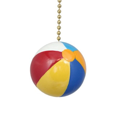 Fun in Sun Beach Ball Ceiling Fan or Light Pull](Beach Ball Lights)