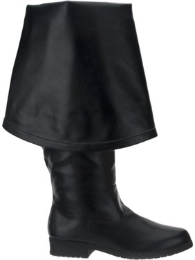 d67ec79e3f4 Product Image 1 1 2 Inch Knee High Pirate Boot With Cuff Black Theatre  Costumes MENS SIZING