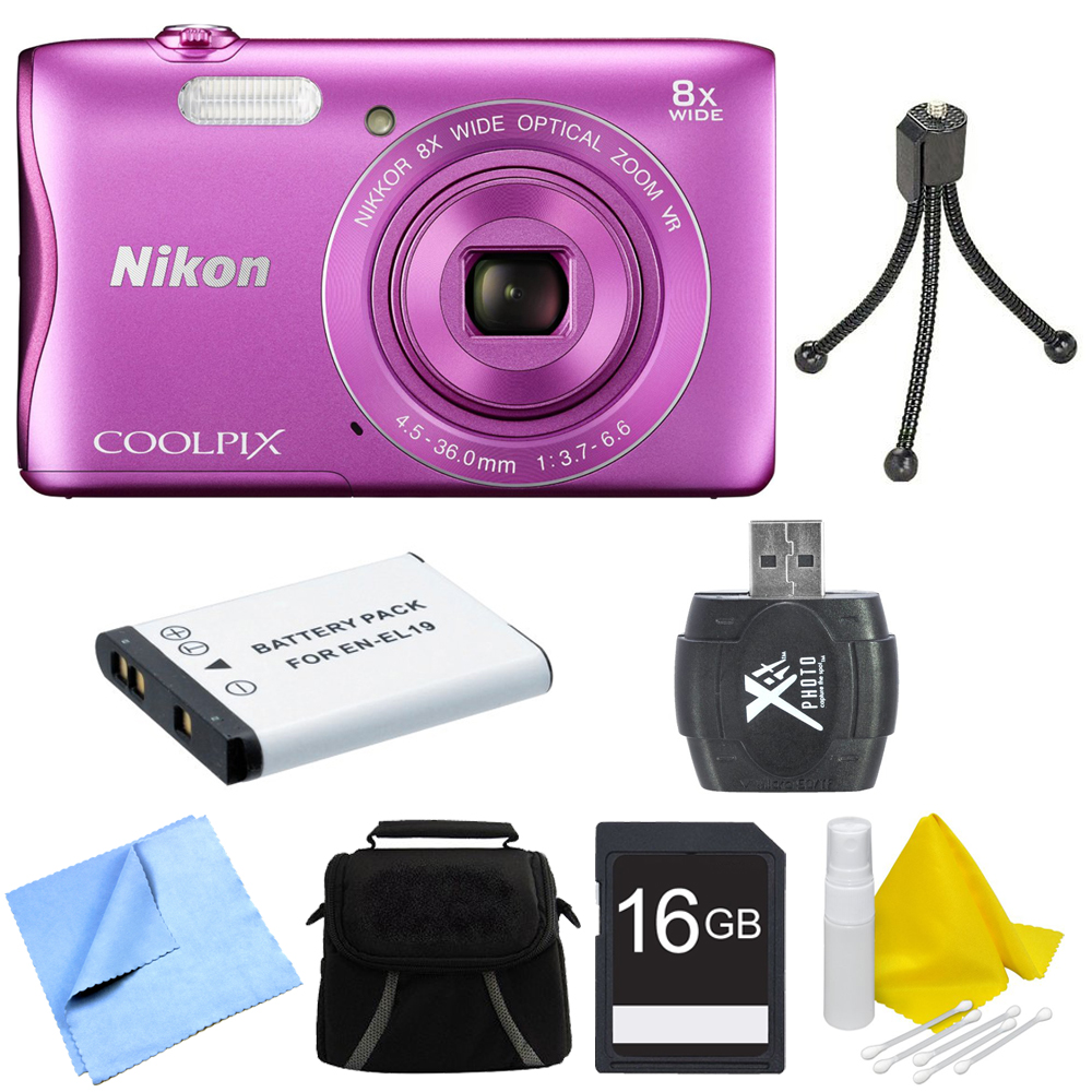 "nikon coolpix s3700 20.1mp 2.7"" lcd digital camera with"