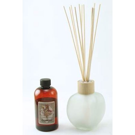 FROSTED 9 Ounce Biarritz Nouveau Reed Diffuser - Courtneys Candles - BABY POWDER - Frosted Acrylic Diffuser