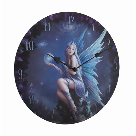 Stargazer by Anne Stakes Printed Fairy Decorative Wall - Fairy Clock