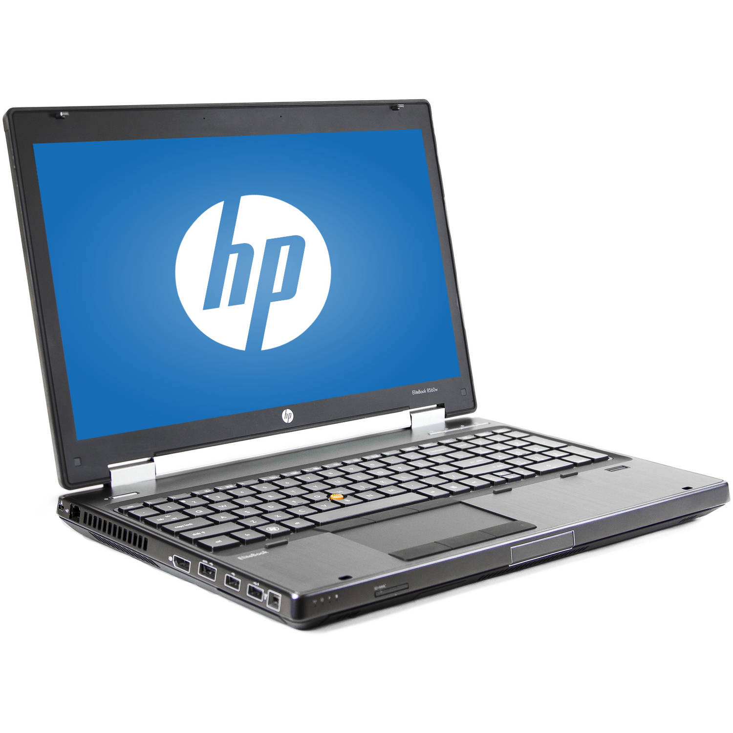 "Refurbished HP Silver 15.6"" 8560W Laptop PC with Intel Core i5-2540M Processor, 16GB Memory, 256GB Solid State Drive and Windows 7 Professional"