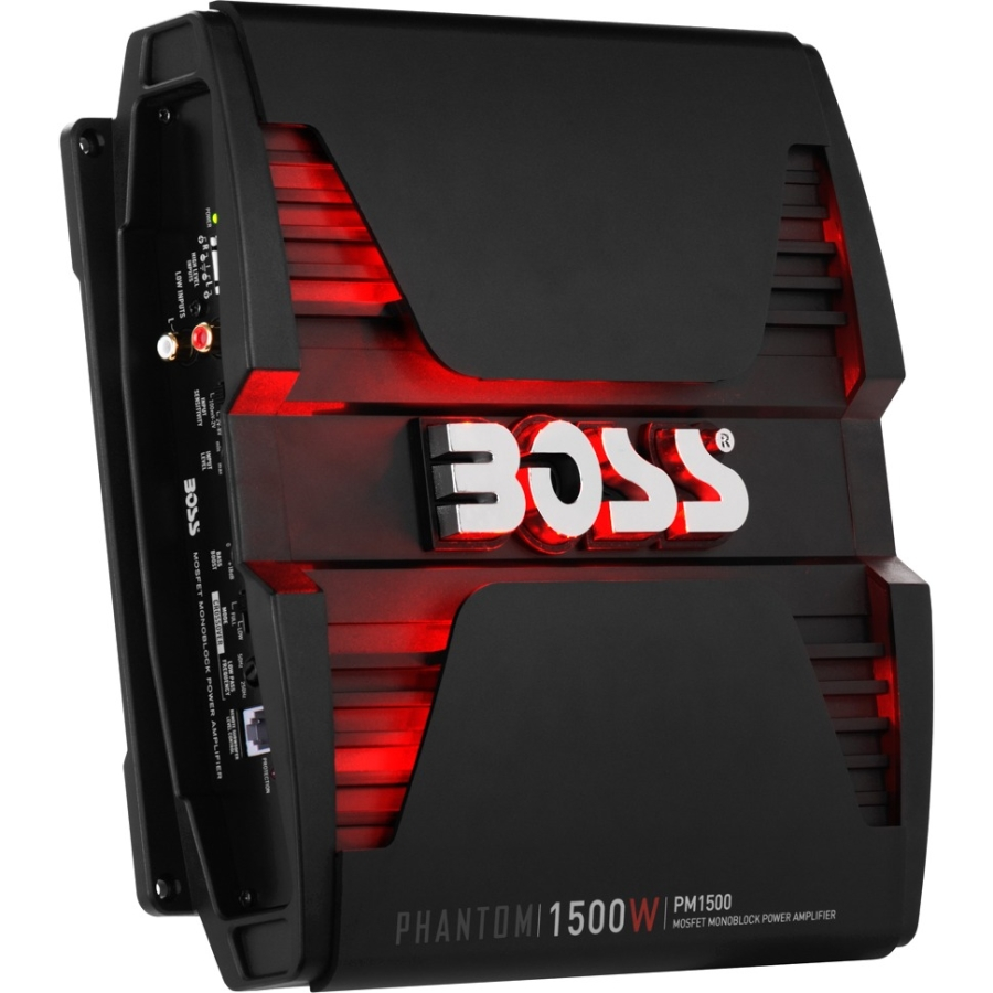 Boss Audio PM1500 Phantom Series Class AB Monoblock Amp, 1,500 Watts
