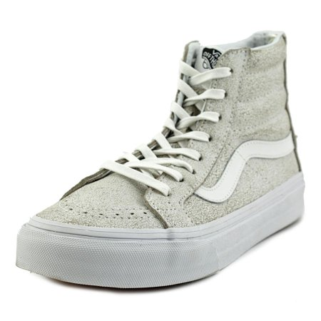 86f7527db65 Vans - Vans Sk8-Hi Slim Zip Crackle Suede White High-Top Fashion Sneaker -  7M   5.5M - Walmart.com