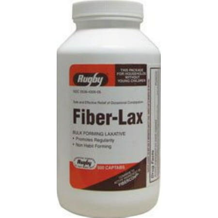 Rugby Fiber-Lax 625 mg Tablets 500 ea