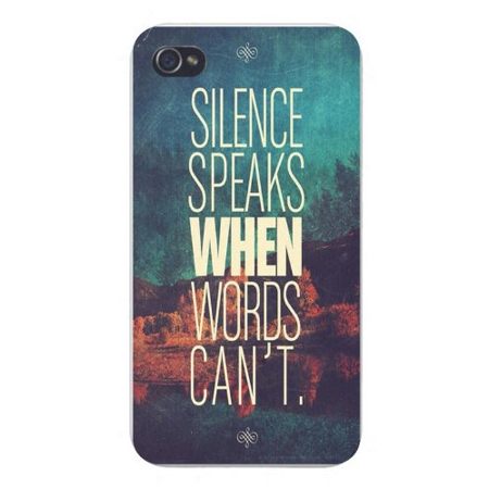 Apple Iphone Custom Case 4 4s Snap on - Vintage Retro Inspirational Quote
