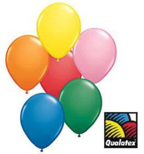 9-inch Qualatex Balloons, Standard Assorted
