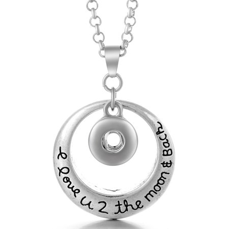 1 Moon and Back Necklace -- 20