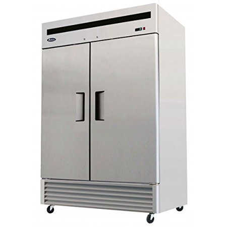 Atosa USA MBF8503 Series Stainless Steel 55-Inch Two Door Upright Freezer - Energy Star Rated](Real Steel Age Rating)