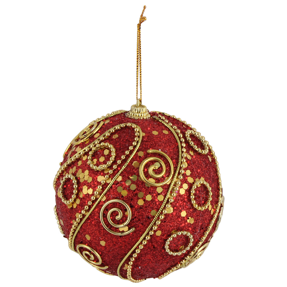 Unique Bargains Christmas Tree Plastic Artificial Collectible Ornament Hanging Baubles Ball