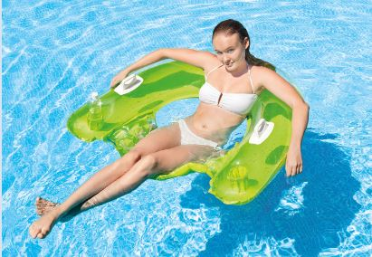 "Intex Inflatable Green Sit 'N Float Pool Lounge, 60"" x 39"""
