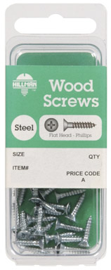 The Hillman Group 5760 Flat Head Phillips Wood Screw 4 X 1//2-Inch 30-Pack