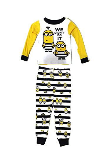 Grey Despicable Me Minions nightwear pyjamas sleepwear NEW Boys Girls Age 4
