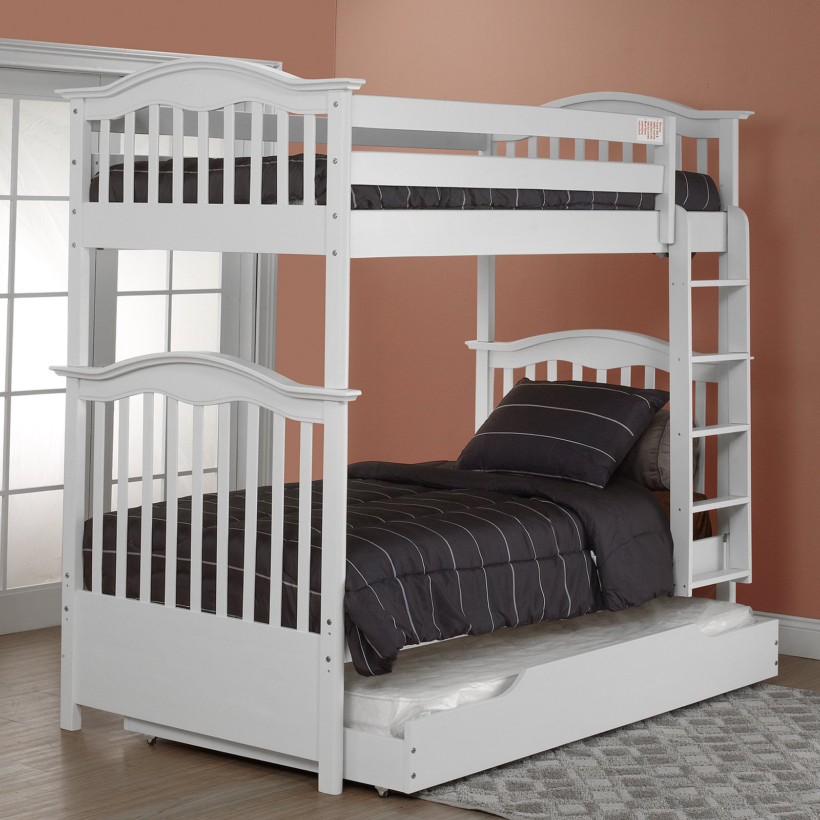 Orbelle Contemporary Twin over Twin Bunk Bed