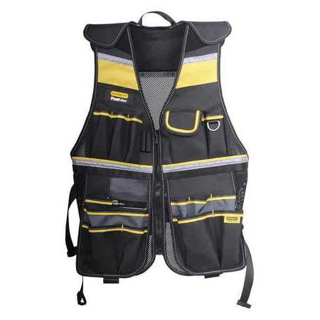 STANLEY Tool Vest,Universal Waist,Black/Yellow FMST530201