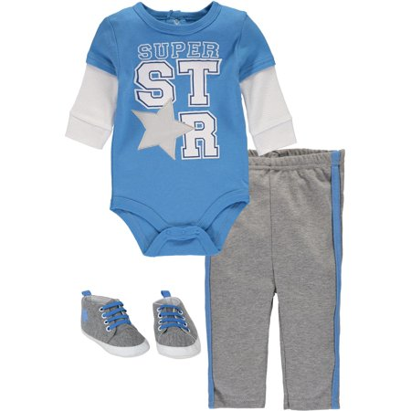 a4193aa1bb Bon Bebe - Bon Bebe Baby Boys 0-9 Months Super Star Shoe Pant Set -  Walmart.com