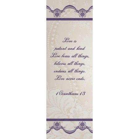 Banner-Wedding-Love Is Patient (2'x6')-Indoor