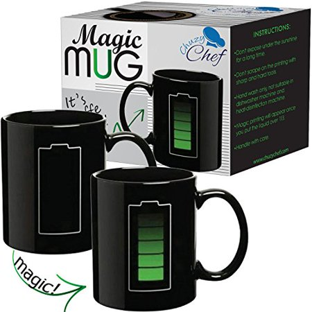 - Magic Coffee Heat Sensitive Mug, Battery Charging Design, Color Changing Heat Cup, 11 oz by Chuzy Chef