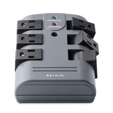 6-Outlet Pivot-Plug Surge Protector