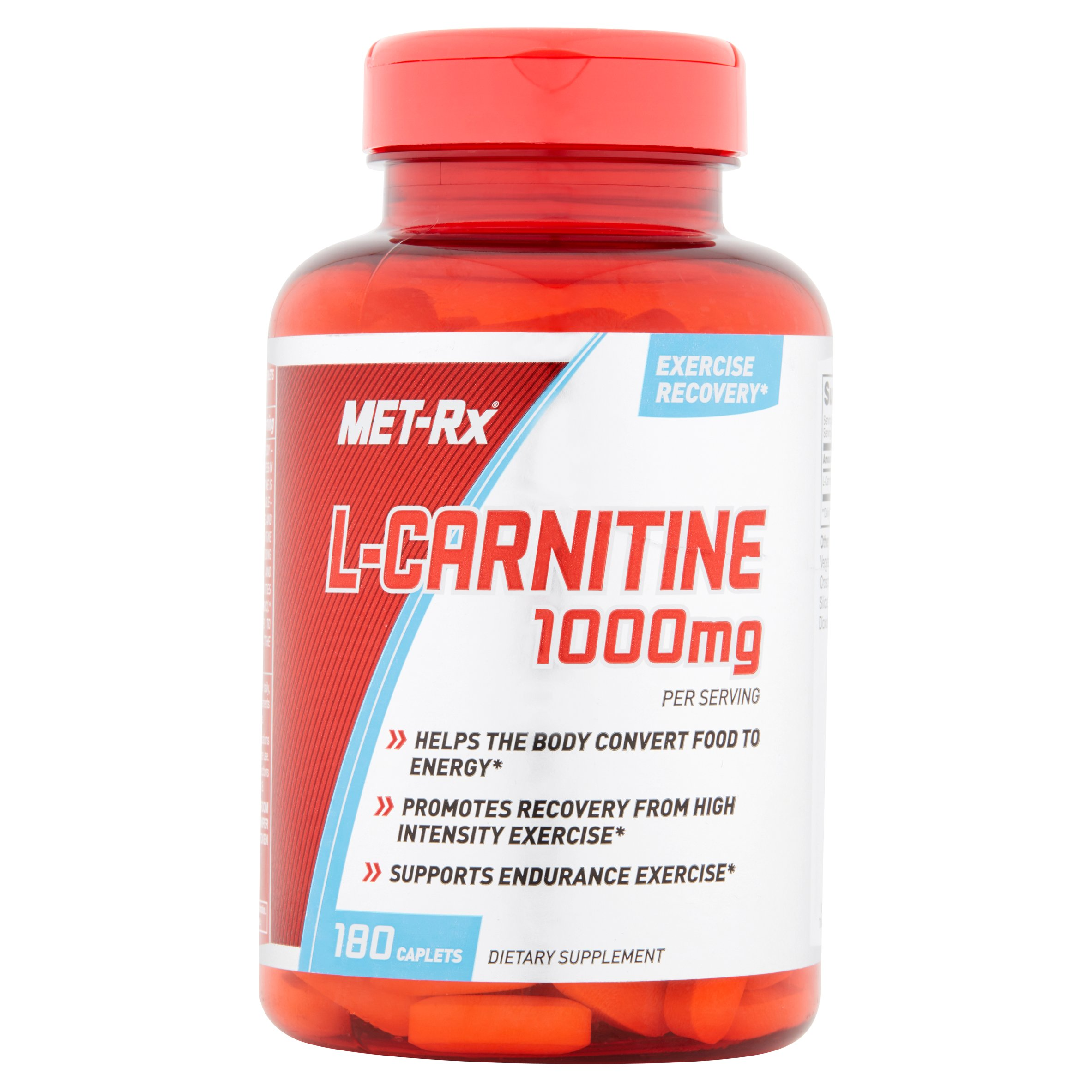 MET-Rx L-Carnitine Dietary Supplement, 1000mg, 180 count