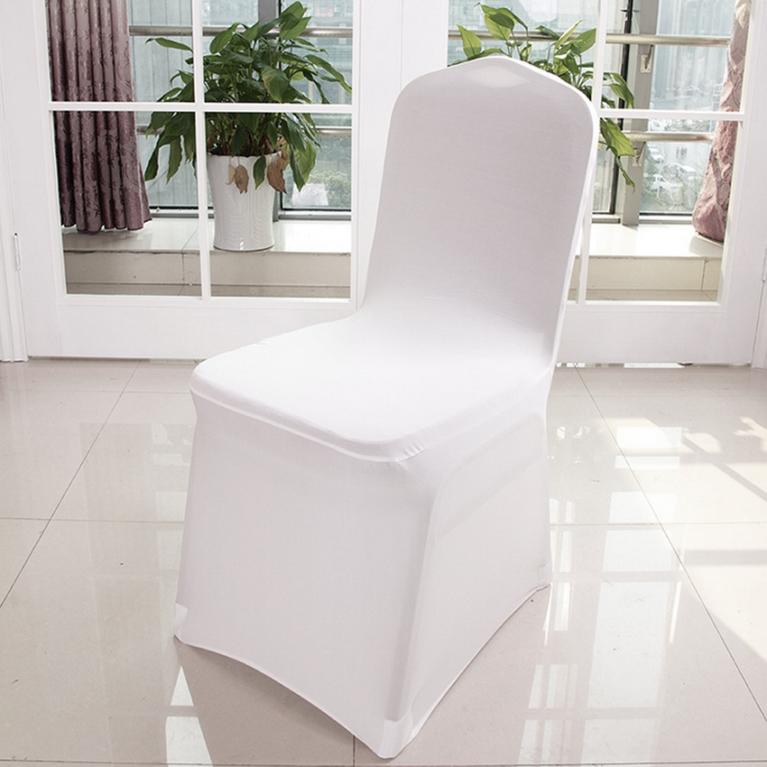100 pcs banquet chair covers white spandex chair covers for party