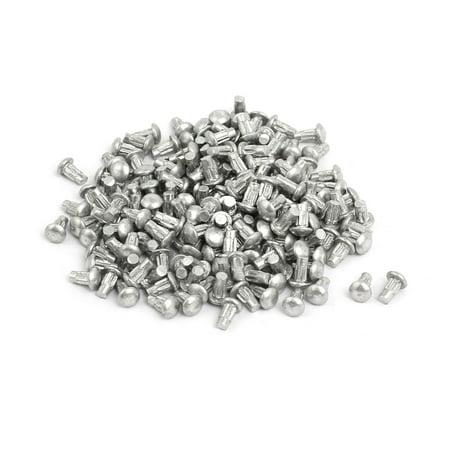 200pcs M2x4mm tige moletée solide aluminium tête ronde Rivet - image 3 de 3