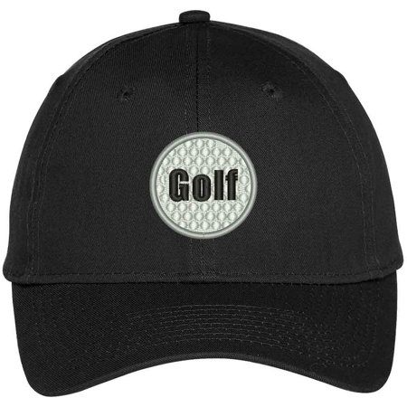 Trendy Apparel Shop Golf Ball Embroidered Sports Themed Cap - Black](Golf Theme)