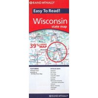 Rand mcnally easy to read! wisconsin state map - folded map: 9780528882128