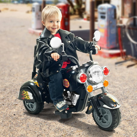 3 Wheel Trike Chopper Motorcycle, Ride on Toy for Kids by Rockin' Rollers - Battery Powered Ride on Toys for Boys and Girls, Toddler and Up - Black