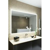 RGB Shaver LED Illuminated Bathroom Mirror with demist, sensor K842ihrgb