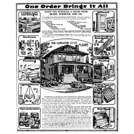 Sears House Ad 1919 Nadvertisement From Sears Roebuck And Company For A House That The Buyer Builds Themselves 1919 Poster Print by Granger Collection