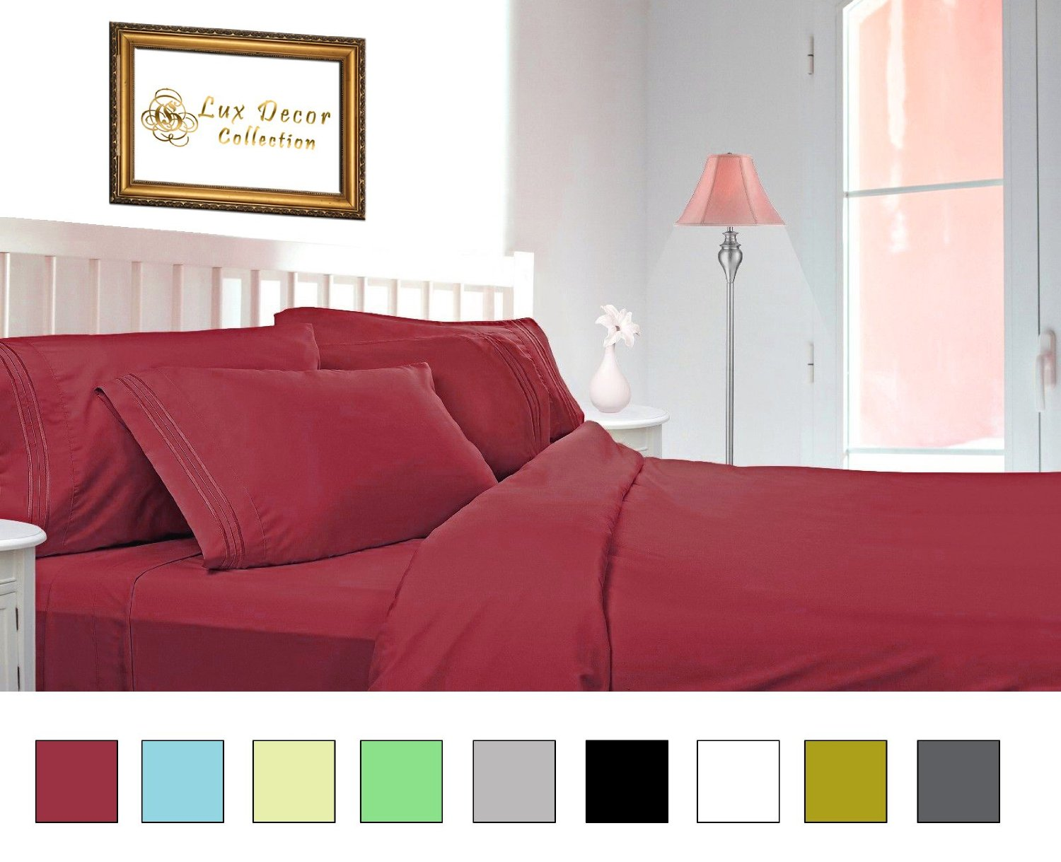 1800 Series Lux Decor Collection   HIGHEST QUALITY Brushed Microfiber   4  Piece Bed Sheet Set