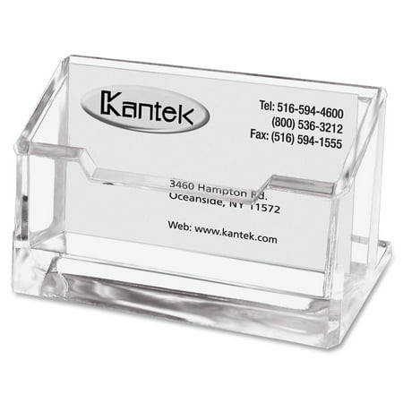 Card Holder Type - Kantek Clear Acrylic Business Card Holder, Fits 80 Business Cards, 4 X 1-7/8 X 2 inches
