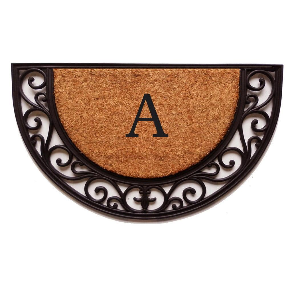 Plantation Arch Monogram Doormat (Letter K) by Supplier Generic